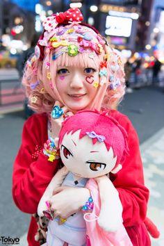 Colorful Japanese decora's Creamy Sauce & Mepura... | Tokyo Fashion
