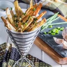 Herb and Garlic Oven Fries