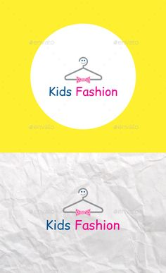 Kids Fashion Logo Template — Vector EPS #fashion #logo • Available here → https://graphicriver.net/item/kids-fashion-logo-template/14354661?ref=pxcr