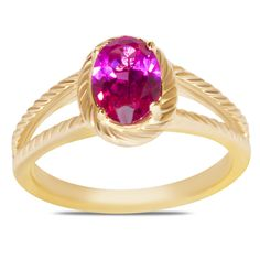 Ebay NissoniJewelry presents - Created Ruby Rope Design Ring 10k Y/Gold    Model Number:FRV6603-Y0CRU    http://www.ebay.com/itm/Created-Ruby-Rope-Design-Ring-10k-Y-Gold-/222062747111