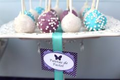 """Photo 1 of 22: Tiffany Blue and Purple Butterfly / First Communion """"Brisa's Party""""   Catch My Party"""