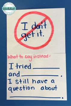 This is a great way to implement growth mindset practice into the classroom. Showing students that it is okay to fail but they should try multiple times and evaluate what part they are confused about and then ask in the right way. Teaching Strategies, Teaching Math, Teaching Resources, Preschool Learning, Teaching Ideas, Classroom Posters, Science Classroom, Future Classroom, School Classroom