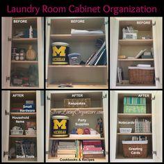 Laundry Room Organization with SilverLiningOrganizers.com