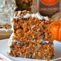 Pumpkin Carrot Cake Allrecipes.com  simple gluten free swap use GF all purpose flour mix (King Arthur brand is nice)  going to make this into muffins tonight.  trying to find ways to sneak more veggies in!!