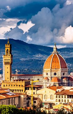 View on Florence and Famous Duomo cathedral, Italy |