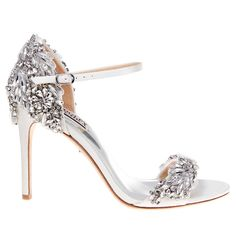 Badgley Mischka Tampa, Crystal Encrusted Bridal Sandals. a sexy sandal that is pure bridal glam. A sexy sandal that is pure bridal glam.