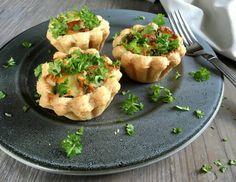 Mini broccolitærter i tarteletskaller…