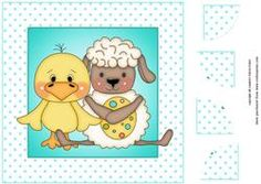 Easter Sheep with a Duck