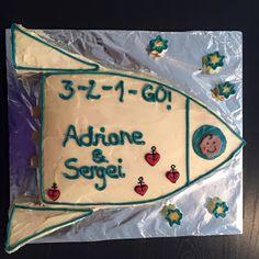 Pâtisserie Nadine: Abschieds-Baby-Astra-Raketenkuchen für Adriane und Sergei Rocket Birthday Parties, Lunch Box, Cookies, Baby, Desserts, Food, Rocket Ship Cakes, Cake Birthday, Food For Kids