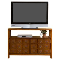 "Card catalogue tv stand - awesome!!! Found it at Wayfair - Lenox 42"" TV Stand in Brown Mahogany"