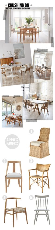 """crushing on"" – natural wood dining chairs"