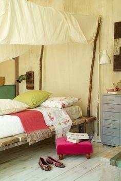 Rustieke slaapkamer met natuurlijke accenten! #slaapkamer #slapen ...