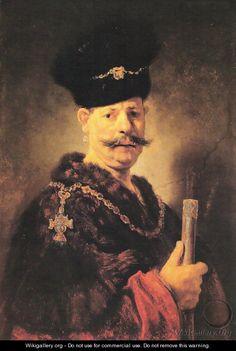 A Polish Nobleman - Rembrandt Van Rijn