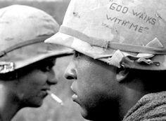 Vietnam War Casualties | South Vietnam, September, 1967: A soldier displays a confident message ...