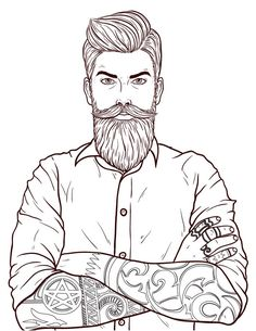 Movember moustache dessin homme coloriage en ligne Coloring Book Art, Coloring Pages To Print, Colouring Pages, Coloring Sheets, Beard Logo, Barber Logo, Beard Art, Black Cartoon Characters, Free Adult Coloring Pages
