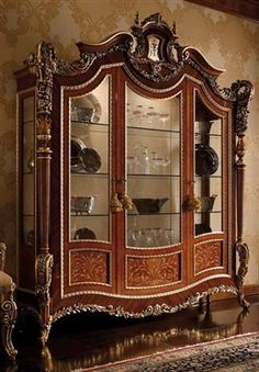 Luxury furniture Cabinet - High end display cabinet Furniture masterpiece collection Patio Furniture Redo, Luxury Furniture Stores, Kitchen Furniture Inspiration, Refurbished Furniture, Luxury Furniture, Display Cabinet, Victorian Furniture, Vintage Furniture, Home Decor Furniture