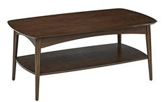 #charity OSP #Designs Copenhagen Coffee Table in Walnut Finish. Attractive mid-century modern design. Solid wood veneers with walnut finish. Two solid drawers. E...
