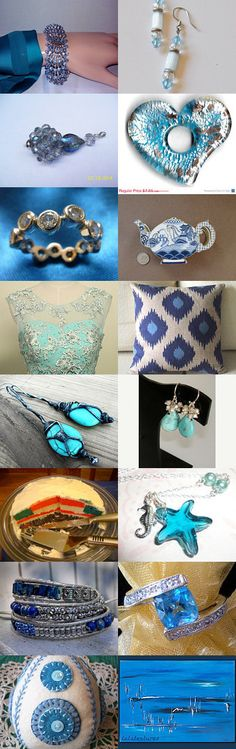 SILVER AND BLUE- AN ICY COMBINATION......gratitude treasury by Pat Peters on Etsy--Pinned with TreasuryPin.com