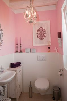 Badezimmer Idee In Rosa.