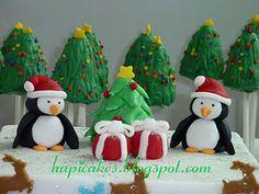 christmas trees Christmas Cake Pops, Christmas Goodies, Christmas Baking, Christmas Tree, Christmas Ornaments, Cupcake Cakes, Cupcakes, Santas Workshop, Pretty Cakes