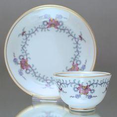 Meissen: Koppchen mit Dreiblütengirlande Chinesisch, Tasse Teetasse Orchidee cup