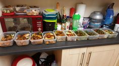 Preparation is key to success! 3 days worth of meals for 2 of us.... herb encrusted chicken, mixed green veg, sweet potato wedges and curry style sauce.... a balance of carbs and protein... perfect for a person who does intense training