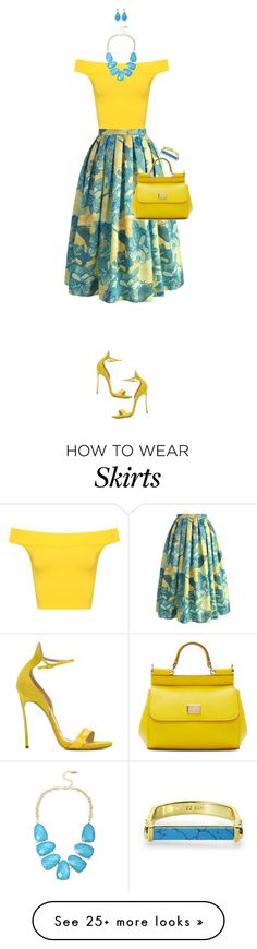 """""""Floral Skirt For Spring"""" by ittie-kittie on Polyvore featuring Chicwish, WearAll, Casadei, Dolce&Gabbana, INC International Concepts, CC SKYE, SpringStyle, springfashion and floralskirt"""