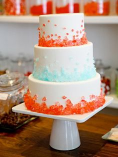 simple wedding cakes with Jelly decoration