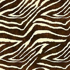 ZEBRA IN WINTER BROWN AND BEIGE ANIMAL PRINT