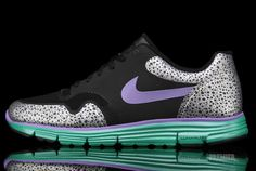 Nike Lunar Safari Fuse+ Deep Purple Forest. white laces though