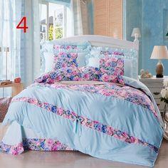 Princess bedclothes bedding set bed skirt style/Home Textile/bed set/duvet cover set queen size