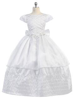 Persevering 2018 Summer White Kinder Jurken Floral Girls Dress Princess Costume Modern And Elegant In Fashion Mother & Kids Dresses