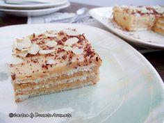 prajitura cu biscuiti si crema caramel Creme Caramel, Vanilla Cake, Tiramisu, Biscuit, Cheesecake, Pie, Ethnic Recipes, Desserts, Food