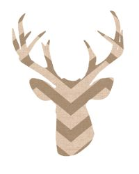 free printable - deer silhouette...more colors/patterns available.    Also can print as 8x10 to frame