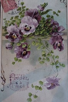 Love pansies and purples!!