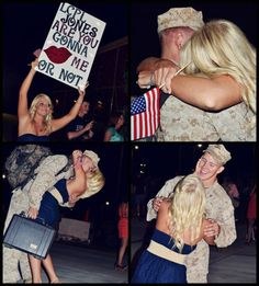 military love inspiration: love that lasts Homecoming Signs, Military Homecoming, Homecoming Pictures, Usmc Love, Military Love, Navy Girlfriend, Navy Wife, Military Couples, Military Dating