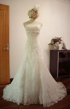 Custom Mermaid Sweetheart Neckline Lace Wedding Dress/Bridesmaids Dress/Prom Dress K066 on Etsy, $388.00