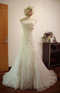 Custom Mermaid Sweetheart Neckline Lace Wedding Dress/Bridesmaids Dress/Prom Dress K066 on Etsy, $388.00