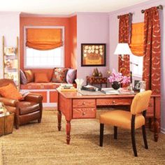 office decor in orange color