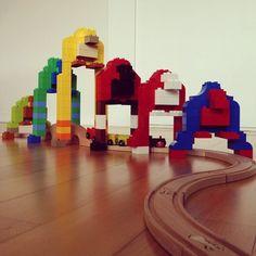 snipingdragons:  Finn's Gorilla Train Bridge from Rainbows and Unicorns Crafts b log