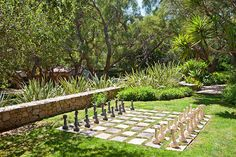 outdoor chess - in Aspen Grove Green Space? My dad would have appreciated seeing this chess set. One day I hope to go there to see it in person for myself