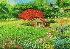 Puerto Rico Countryside by Alicia Maury Minimalist Painting, Puerto Rico, Countryside, Original Paintings, Artwork, Work Of Art, Auguste Rodin Artwork, Artworks, Illustrators