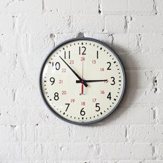 vintage military-time simplex wall clock