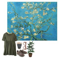 """almond blossom"" by sophiedl ❤ liked on Polyvore featuring Zucca and Dr. Martens"