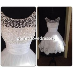 Hey, I found this really awesome Etsy listing at https://www.etsy.com/listing/192893936/2014-wedding-dress-short-white-pearl