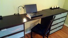 Not enough room in my apartment, just thought it was cool.  (IKEA Hackers: Lack Bedroom Desk or Dressing Table)