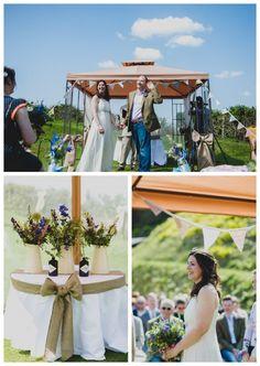 Travel Themed Cornish Cliff Top Wedding ~ Quirky Wedding Photographer » TOAST