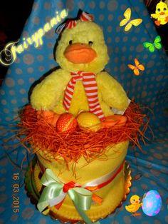 Easter diaper cake1