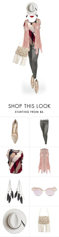 """Dress up your jeans - Contest entry"" by no-where-girl ❤ liked on Polyvore featuring Gianvito Rossi, 7 For All Mankind, Charlotte Russe, Le Specs and Calypso Private Label"