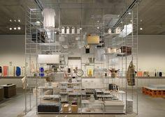 Muji shelving units combine to form Fumihiko Sano's installation